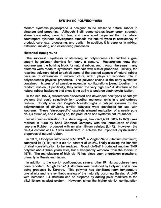 POLYISOPRENE – MTEC a member of NSTDA